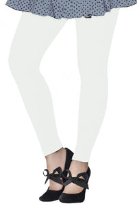 Lux Lyra Ankle Length Off White Color Legging (LG-09)