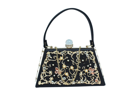 Dhanari Black Color Party Wear Handbags For Women's (BG-82) D0004