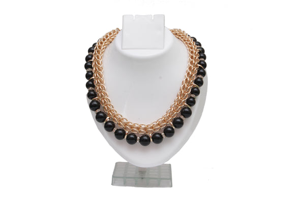 Dhanari Black Pearls With Chain For Women's And Girls  Jewellery (JW-18) Q1