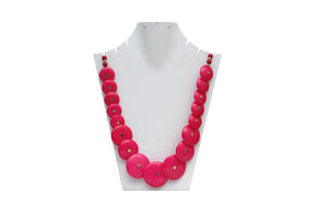 Dhanari Women's Pink Buttons Necklace (JW-39) L03