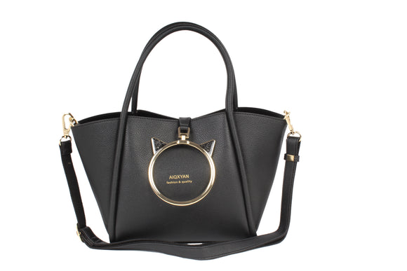Dhanari Black Combo Handbag For Women (BG-71)S002