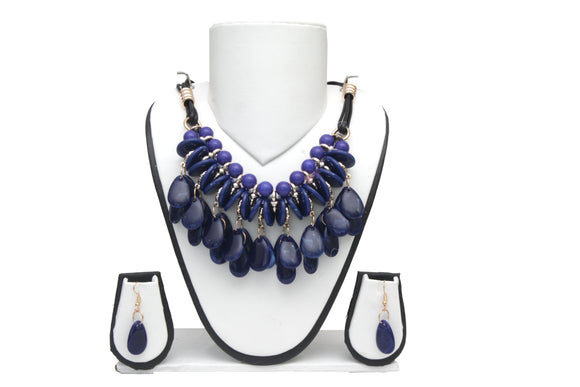Dhanari Blue Necklace For Women's (JW-41) N03