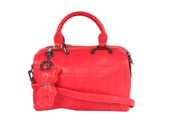Dhanari Red Color Handbag With KeychainFor Women (BG-76)X001