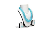 Dhanari Women's Blue Color Beads Necklace (JW-44)Q09
