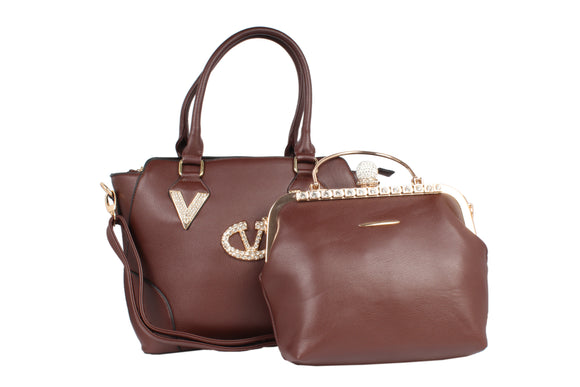Dhanari Brown Color HandBag Combo For Women's (BG-85) G0004