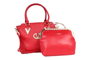 Dhanari Red Color HandBag Combo For Women's (BG-85) G0005
