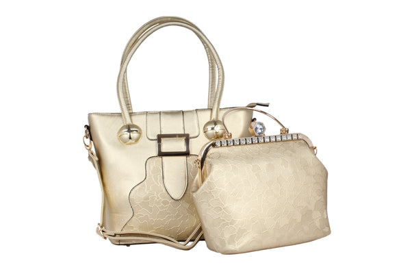 Dhanari Golden Combo Handbag For Women's (BG-87)I0001