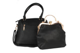 Dhanari Black Color Stylish Handbag With Clutch For Women's (BG-89) K0002