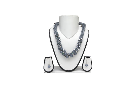 Dhanari Women's Gray Crystal Necklace (JW-44) Q03