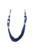 Dhanari Blue Color Small Beads Women's Necklace (JW-10)J1