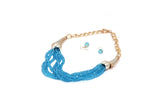 Dhanari Women's Blue Beads Necklace (JW-49) V04