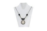 Dhanari Women's White Stone Pendant Necklace (JW-52) Y03