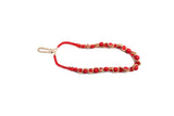 Dhanari Red Pearls With Golden Chain Necklace For Women's And Girls (JW-55) B003