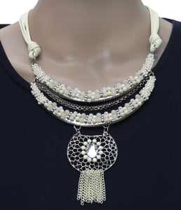 Dhanari Women's White Color Beads Attractive  Jewellery (JW-59)F008