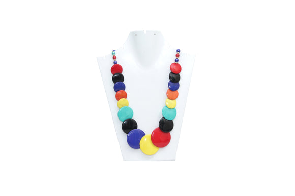 Dhanari Women's Multicolored Buttons Necklace (JW-61) H004