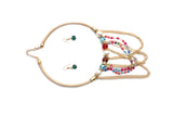 Dhanari Women's Multi Color Necklace Set (JW-64) K005