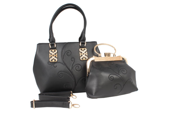 Dhanari Black Stylish Combo Handbag For Women (BG-105)A0001