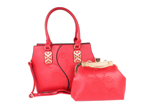 Dhanari Red Stylish Combo Handbag For Women (BG-105)A0002