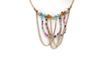 Dhanari Women's Multi Color Necklace With Earring (JW-64) K003