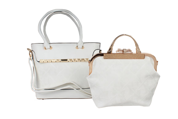 Dhanari White Stylish Combo Handbag For Women's (BG-107) C00001