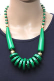 Dhanari Women's Dark Green Rings Necklace Jewellery (JW-68) O005