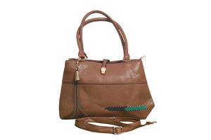 Dhanari Brown Color Women's HandBags(BG-22) V2