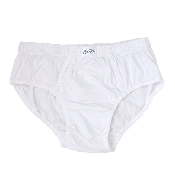 Euro Men's Regular White Color Brief (EU-REG-WH-BRI)