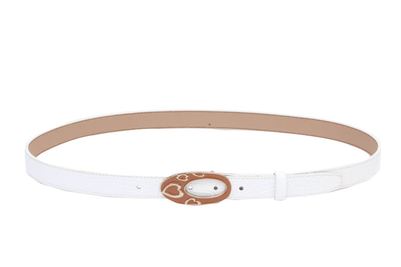 Dhanari White Color Flexible Strap Belt For Women's (BL-5) E1