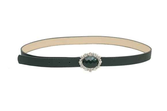 Dhanari Women's Green Buckle Belt (BL-6) F7