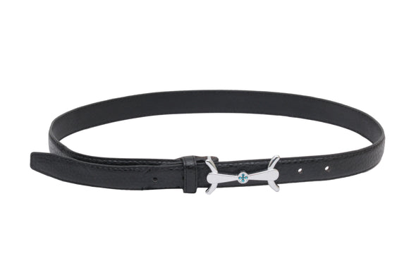 Dhanari Black Color Belt With Stylish Buckle Women's Belt (BL-6)F11