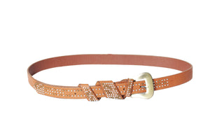 Dhanari Women's Brown Color Belt (BL-7)G16