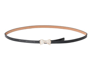 Dhanari Black Color Bow Style Buckle Belt (BL-8)H9