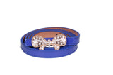 Dhanari Blue Color Belt With Stylish Buckle For Women's  (BL-8) H49