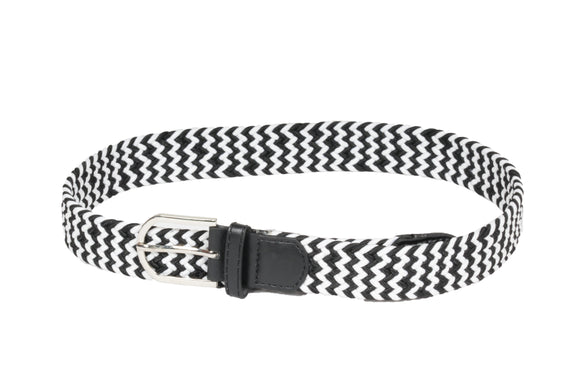 Dhanari Women's Black And White Color Belt (BL-9)I3