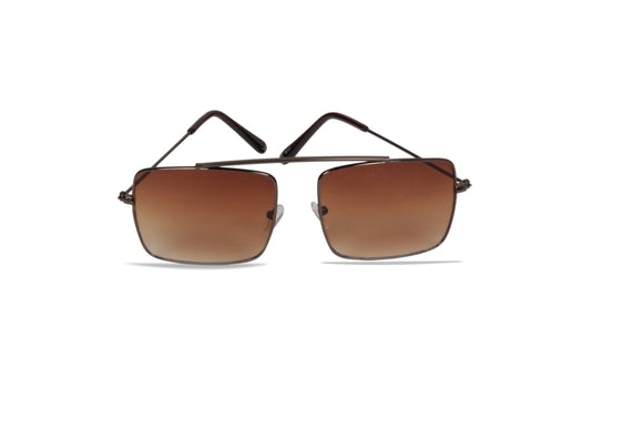 Dhanari Women's Brown Color Shaded Square Shape Sunglasses (SG-1)A2