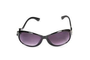 Dhanari Black Color Women's Sunglasses With Purple Mirror (SG-4) D3
