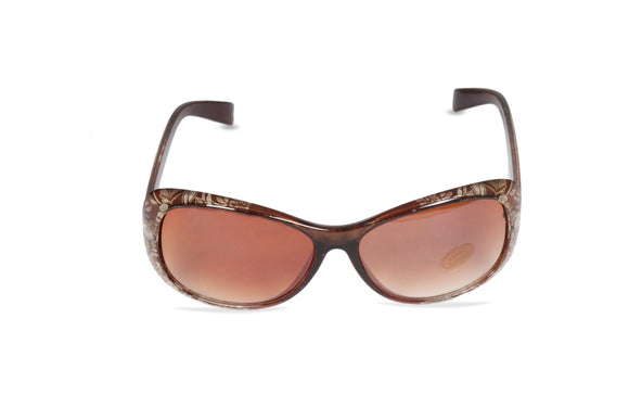 Dhanari Women's Designer Brown Frame Sunglasses (SG-5) E14