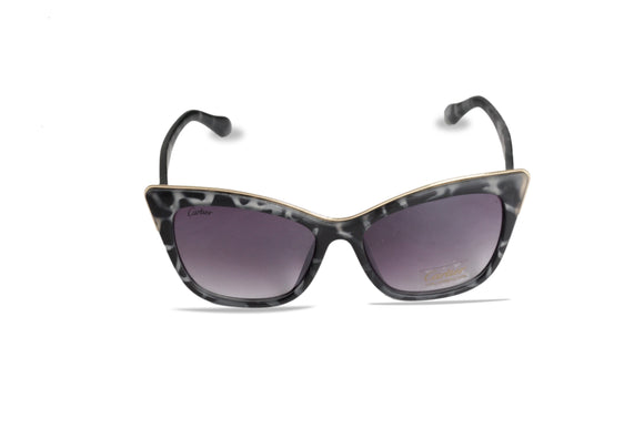 Dhanari Women's Purple Shade Black Frame Sunglasses (SG-10) J1