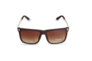 Dhanari Women's Brown Wrap Sunglasses (SG-10) J6