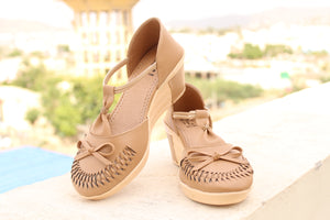 Dhanari Light Brown Color Comfort Heel For Women's (SAN-015)