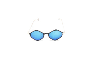 Dhanari Women's  Black Frame With Blue Shades (SG-15) O5