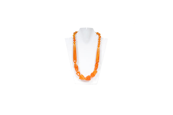 Dhanari Women's Yellow Stone Necklace (JW-70)Q0027