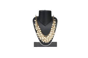 Dhanari Women's Cream Color Stone Jewellery Set (JW-71) R002