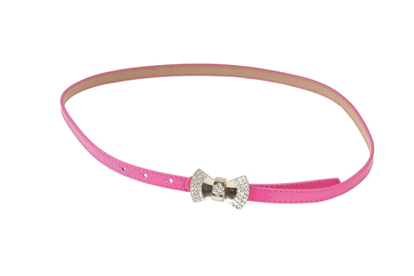 Dhanari Women's Stylish Bow Buckle Pink Color Belt (BL-10) J5