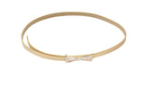 Dhanari Women's Stylish Cream Color Bow Buckle Belt (BL-10) J11