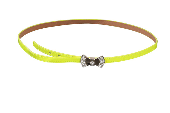 Dhanari Women's Bow Buckle Yellow Color Belt (BL-10) J24