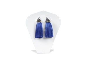 Dhanari Stylish Royal Blue Color Theard Earrings For Women's (JW-73) T004