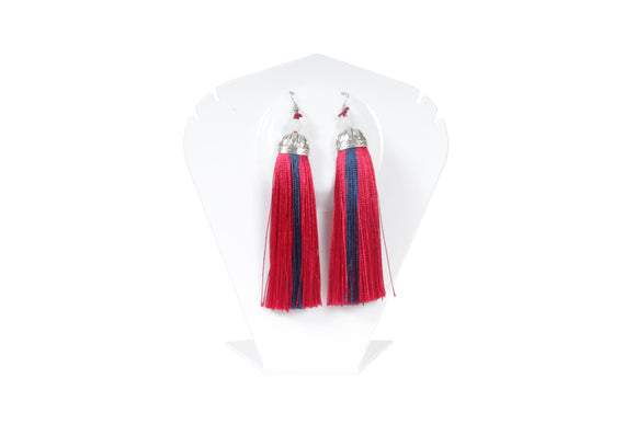 Dhanari Women's Rani And Blue Thread Earrings(JW-75)V004