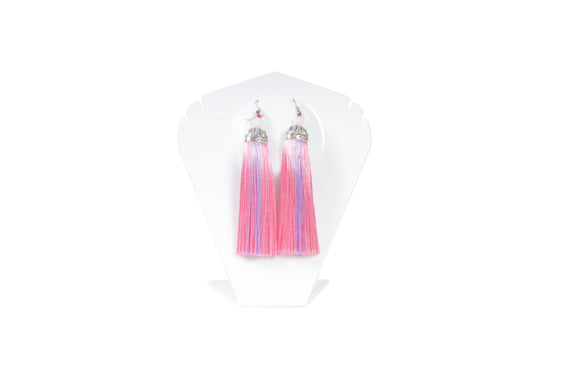 Dhanari Stylish Pink And Purple Color Shaded Earrings For Women's  (JW-75) V005