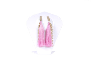 Dhanari Light Pink Color Theard Earring With Hanging Chain For Women's (JW-74)U003